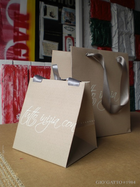 shopping bag per negozi personalizzate by Gio'Gatto, shopping bag per negozi in carta